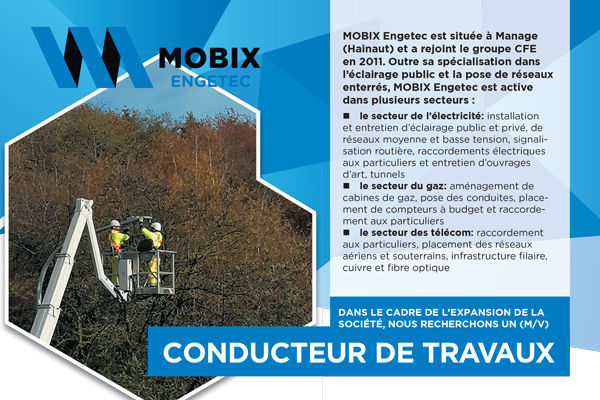 MOBIX Engetec: conducteur de Travaux